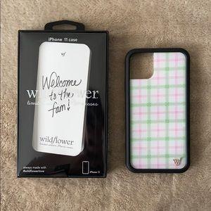 Wildflower Pastel Plaid iPhone 11 case